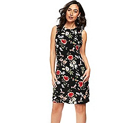 Wallis - Black oriental print shift dress