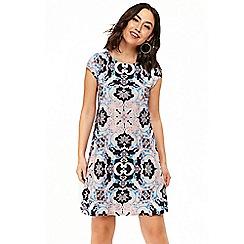 Wallis - Navy paisley print shift dress