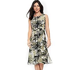Wallis - Neutral midi palm dress