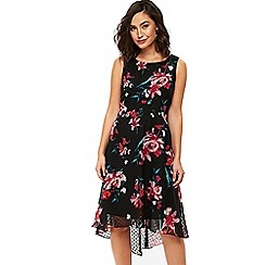 Wallis - Black floral dress