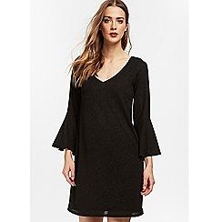 Wallis - Black sparkle shift dress