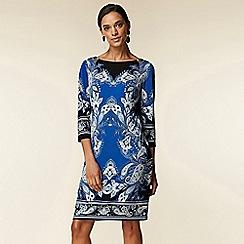 Wallis - Blue Paisley Print Tunic Dress