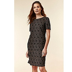 Wallis - Stone jacquard shift dress