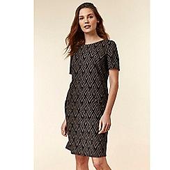 Wallis - Stone jacquard shift dress