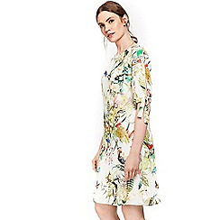 Wallis - Blush palm print tunic dress