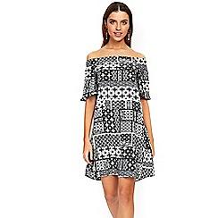Wallis - Mono patch bardot dress