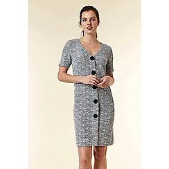 Wallis - Blue jacquard shift dress