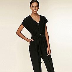Wallis - Black button top jumpsuit