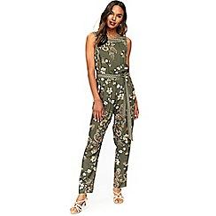 Wallis - Khaki paisley print jumpsuit