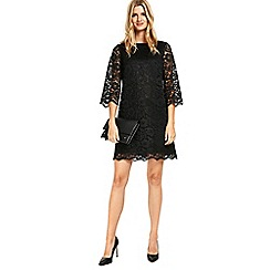 Wallis - Black lace shift dress