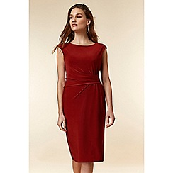 Wallis - Rust ruched side shift dress