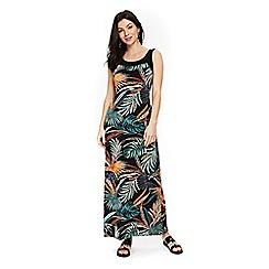 Wallis - Black tribal palm print maxi dress