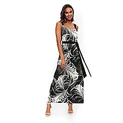 Wallis - Black and white palm print maxi dress