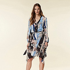 Wallis - Black Paisley Scarf Print Shirt Dress