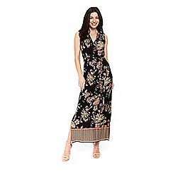 Wallis - Black paisley print maxi dress