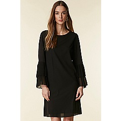 Wallis - Double flute pleat sleeves shirt dress