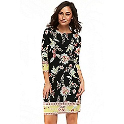 Wallis - Black border oriental tunic dress