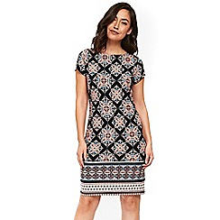 Wallis - Black tile printed tunic dress