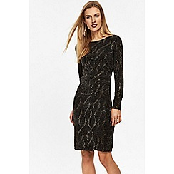 Wallis - Gold wave sparkle dress