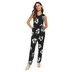 Wallis - Black lily print jumpsuit