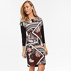 Wallis - Black paisley print tunic dress