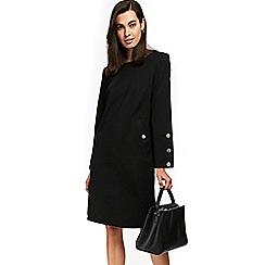 Wallis - Black stud sleeve ponte dress