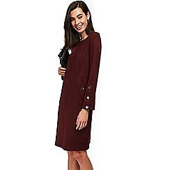 Wallis - Berry stud sleeve ponte dress