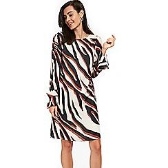 Wallis - Diagonal zebra print shift dress