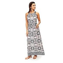 Wallis - Neutral tile print maxi dress