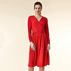Wallis - Red wrap midi dress