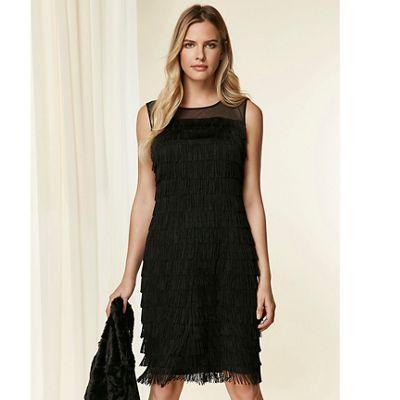 Wallis Black fringe swing dress   Debenhams cbaa642b16