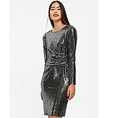 Wallis - Silver shimmer shift dress