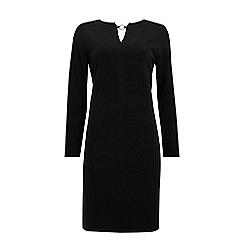 Wallis - Black stud detail shift dress