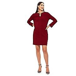 Wallis - Berry stud detail shift dress