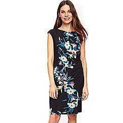 Wallis - Black tropical fern shift dress