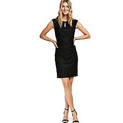 Wallis - Black geo lace shift dress