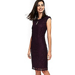 Wallis - Purple geo lace shift dress
