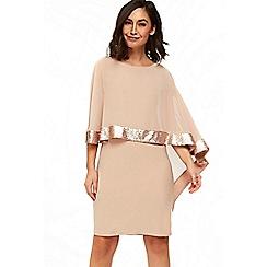 Wallis - Oyester sequin layer dress