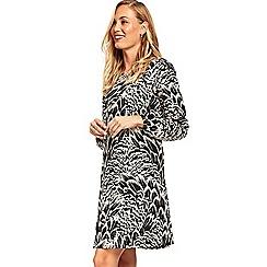 Wallis - Feather print jersey swing dress