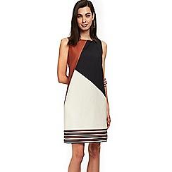 Wallis - Black pattern border shift dress