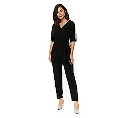 Wallis - Black sports jumpsuit