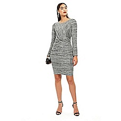 Wallis - Grey ruched jersey dress