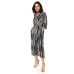 Wallis - Black palazzo mixed stripe jumpsuit
