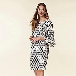 Wallis - Monochrome spotted shift dress
