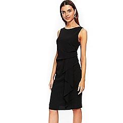 Wallis - Black ruffle shift dress