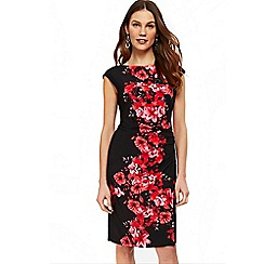 Wallis - Black poppy print shift dress