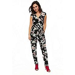 Wallis - Black oriental print jumpsuit