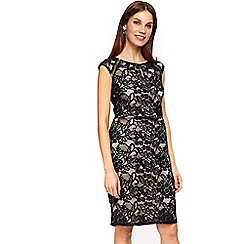 Wallis - Black contrast lace shift dress