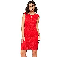 Wallis - Red lace shift dress