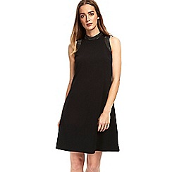 Wallis - Black embellished collar shift dress